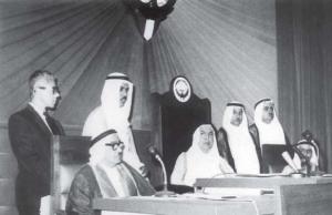 صاحب السمو الشيخ عبدالله السالم في افتتاح دورة تشريعية لمجلس الأمة